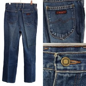 Vintage Wrangler High Rise Patch Pocket Jeans 14